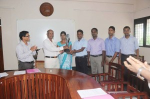 The Certificate were given to the Physio quiz winners at Faculty board
